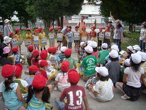 箕面の小学校1年生との山麓学習スクールインタープリター活動報告01