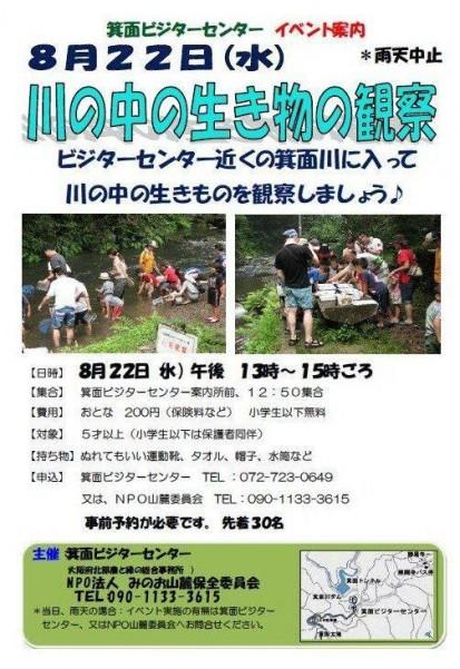 箕面ビジターセンター夏休みイベント