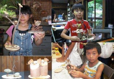 箕面ビジターセンター夏休み森の工作教室