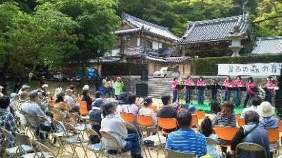 新緑の箕面の森の音楽会、開催しました♪01