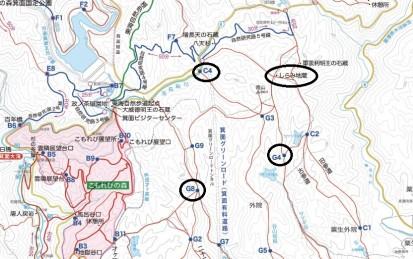 松本さん巡回地図