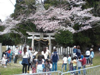 白姫神社に植樹